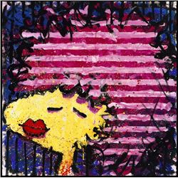 Bid Lips in a Pink Polyester Wig by Tom Everhart