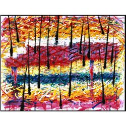 Piano In The Rain 93' by Tom Everhart