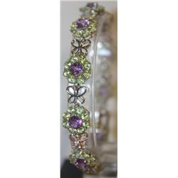Stylish Amethyst and Peridot Bracelet
