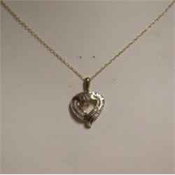 Beautiful Gold Necklace with Heart Pendant