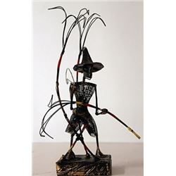 Original Wire Frame Sculpture - B. Teddy St. Ange
