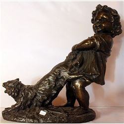 Tail Tugging - Bronze Sculpture