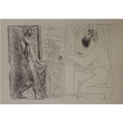 Sculptor  Window Lithograph -  Picasso