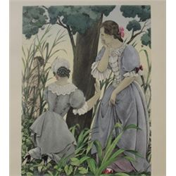Women in the Woods - Lithograph -  Legrand