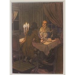 Dinner Date - Lithograph -  Cleland