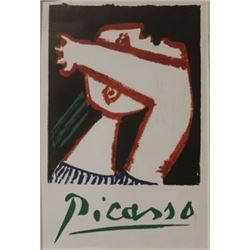 Picasso lithograph poster of woman