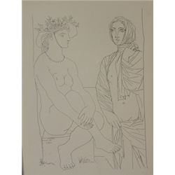 Two Women 1933 Lithograph -  Picasso (2)