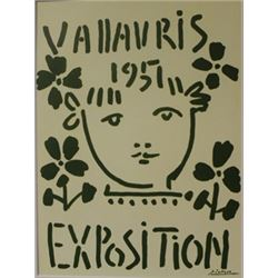 Vallavris Expo 1957 litho -  Picasso