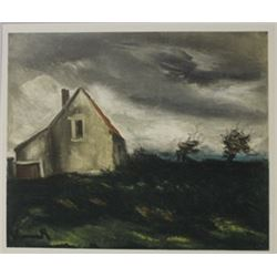 The house on the plain 1949 - Ltihograph -  Maurice de Vlaminck