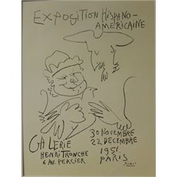 Exposition Hispano-Americaine Lithograph -  Pablo Picasso