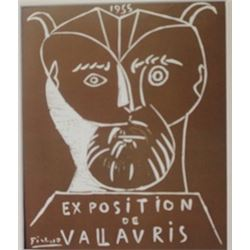 Exposition Vallavris 1955 Lithograph -  Picasso