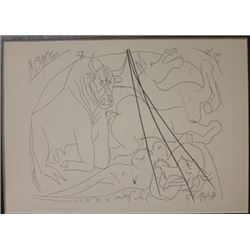 Girl Horse And Minotaur - Lithograph -  Picasso