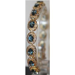 Beautiful Blue Topaz Bracelet