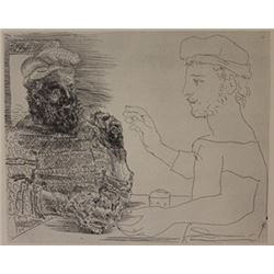 two catalan men lithograph  -  Picasso