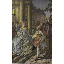 Time at the ball - Lithograph - legrand