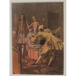 Meeting a Couple - Lithograph -  Cleland