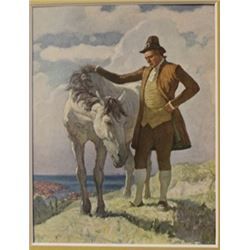Pilgrim and Pony - Lithograph -  Weyth