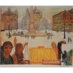 At The Street Market - Litho - Legrand