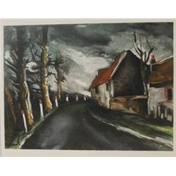 The long road - Lithograph  -  Maurice de Vlaminck