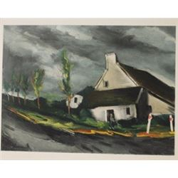 Near Beamont - sur sar the - Lithograph  -  Maurice de Vlaminck