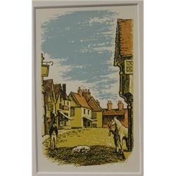 Parked in the road - lithograph - Legrand