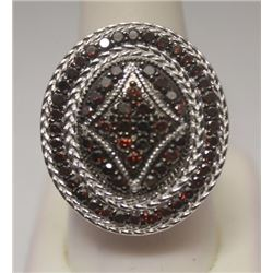 Very Fancy Red Diamonds Silver Ring