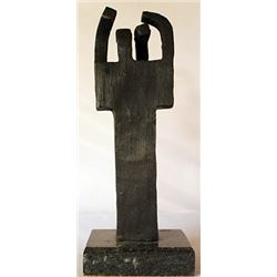 Bronze Sculpture - Marble Base - Edouardo Chillida