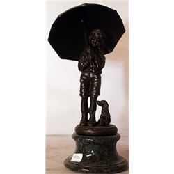 Rainy Day - Bronze sculpture