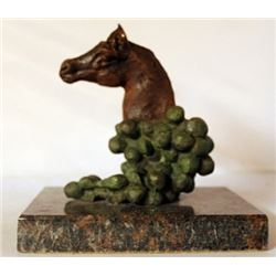 Signed - Patina Bronze Sculpture W/ Marble Base