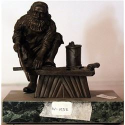 Santa In his Shop - Bronze Sculpture - Moreau