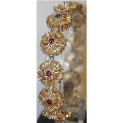 Stunning Ruby, Diamond, and Sapphire Bracelet