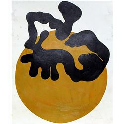 Oil Painting on Paper - Jean Hans Arp