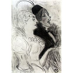 Graphite Drawing on Paper - H. Toulouse - Lautrec