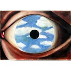 The Eyes of the Soul - Pastel Drawing - Rene Magritte