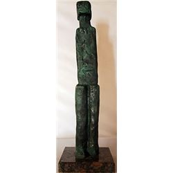 Bronze sculpture - Marble Base - Hand Signed