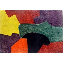 Composition - Pastel on Paper - Serge Poliakoff