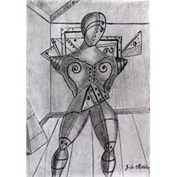 The Gladiator - Graphite Drawing - Giorgio De Chirico