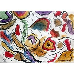 Composition VIII - Watercolor on Paper - W. Kandinsky