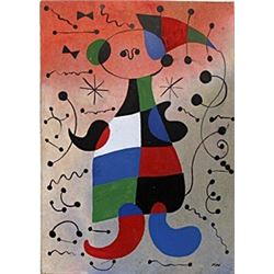 Nino Con Sombrero - Oil on Paper - Joan Miro