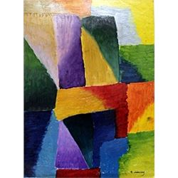Hand Signed Oil Painting - Robert Delaunay