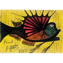 The Fish - Pastel Drawing - Bernard Buffet