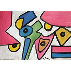 The Flowers - Oil Painting - Arshile Gorky