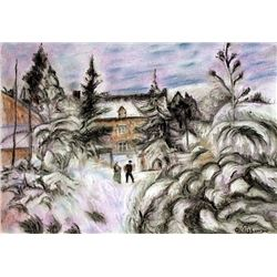 White Frost  1882 - Pastel on Paper - Camille Pissarro