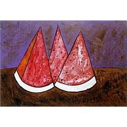 Tres Sandias - Oil Painting on Paper - Rufino Tamayo