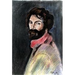 (Self-Portrait) Pastel Drawing on Paper - Frederic Bazille