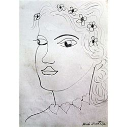 Madame III - Drawing on Paper - H. Matisse III