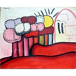 Oil Painting on Canvas - Philip Guston