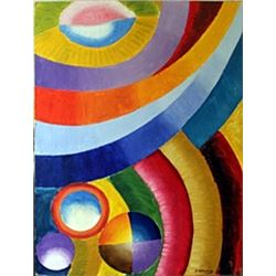 Oil Painting on Masonite Board - Robert Delaunay