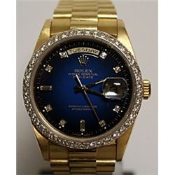 All Original - Presidential Blue Face Rolex