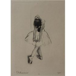 dilassement - Lithograph  -  Unknown Arist